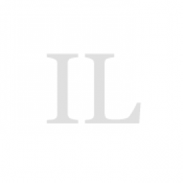 Schroefkap kunststof (PBT) met gat rood GL 25