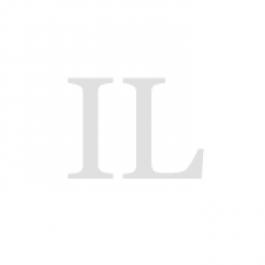 Decanteerfleskraan, hoekventiel, kunststof (PE), brede schroefdraad 22 mm