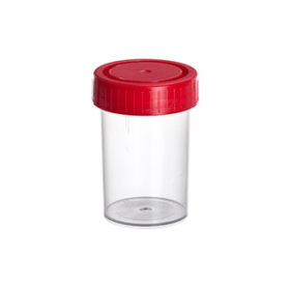 Containers pp schroefdop rood afm 38x65 mm 60 ml (600 stuks)