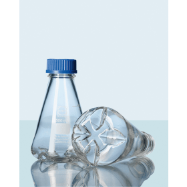 DURAN erlenmeyer 1 liter met 4 inkepingen (bodem) hals GL 45 zonder dop