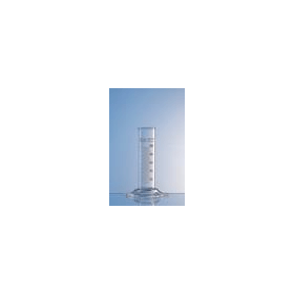 Maatcilinder glas zeskant voet laag 25 ml