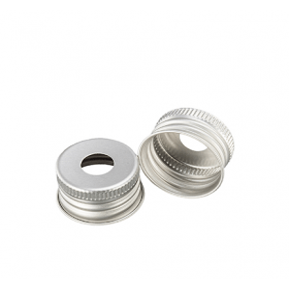 Aluminium dop met gat klein 24 mm