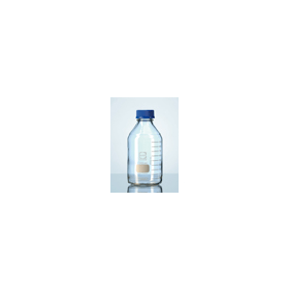 Laboratoriumfles DURAN helder glas met blauwe dop 100 ml GL 45