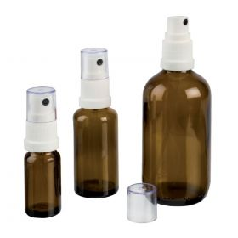 Sprayfles glas (bruin) 50 ml