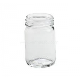 Schroefpot helder glas zonder deksel 100 ml DIN 45