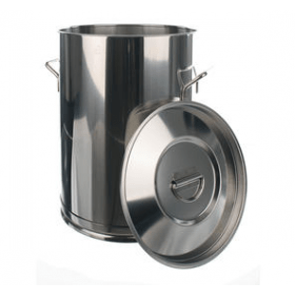Emmer, voor transport, rvs (18/10), inhoud 100 liter