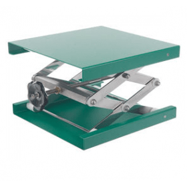 Labolift poedercoating (groen) 40 x 40 cm hoogte 90-470 mm