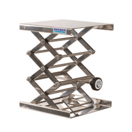 Labolift MAXI rvs boven- en onderplaat 20 x 20 cm hoogte 75-400 mm