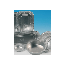 Aluminiumschaal 125 ml rond (100 stuks)