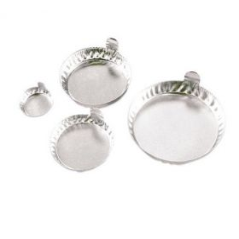 Aluminiumschaal vingergreep dxh 43x13 mm; 20 ml (100 stuks)