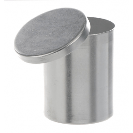 Schaal aluminium cilindrisch met deksel dxh 65x85 mm