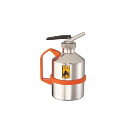 Veiligheidskan RVS met fijndoseerdop met uitloop 1 liter