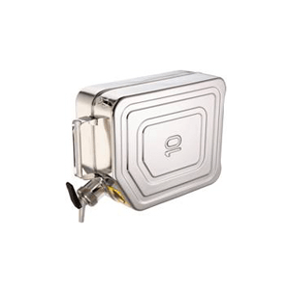 Veiligheidsjerrycan RVS met zelfsluitende tapkraan 1 1/2'' en beluchting (gescheiden) 10 liter