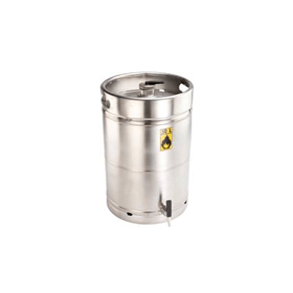 veiligheidsvat RVS met zelfsluitende tapkraan 3/4'' 50 liter