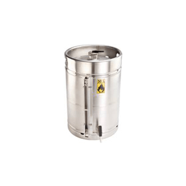 Veiligheidsvat RVS met zelfsluitende tapkraan 3/4'' en peilglas 50 liter