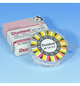 DUOTEST pH 1.0-4.3 rol met 5 meter