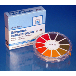 Universeel indicator pH 1-11 rol met 5 m