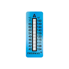 Temperatuurstrip onomkeerbaar 10LB 77+127°C (10 strips)