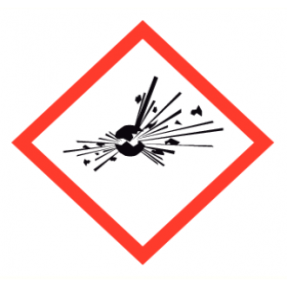 Waarschuwingsetiket GHS01 Explosief 24x24 mm (25 stuks)