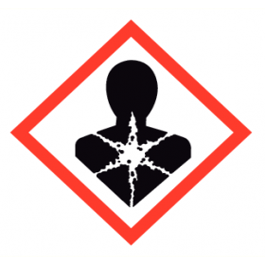 Waarschuwingsetiket GHS08 Schadelijk voor de gezondheid (op de lange termijn) 24x24 mm (25 stuks)