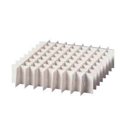 Inzet karton (waterbestendig) 7x7 posities 16x16 mm hoogte 65 mm voor box 136x136x75/100/130 mm