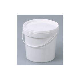 Emmer kunststof (PP) 1 liter met deksel en hengsel