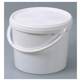 Emmer kunststof (PP) 5 liter met deksel en hengsel