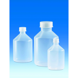 Fles kunststof (PP) 100 ml met schroefdop GL 18 (20 stuks)