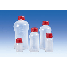 Fles kunststof (PP), VITgrip, 125 ml, met schroefdop