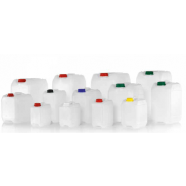 KAUTEX jerrycan kunststof (HDPE), UN-keur, 2.5 liter, schroefdraad 45 mm ZONDER dop