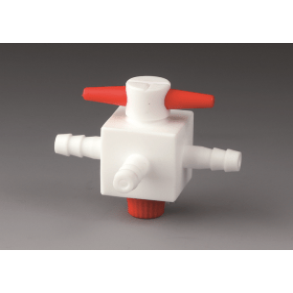 BOLA T-kraan PTFE met T-plug, olijf 4.5 mm, doorlaat 1.0 mm