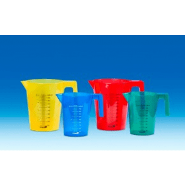 Maatbeker kunststof gekleurd (PP, geel) 500 ml