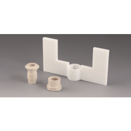 Roerelement PTFE ankermodel 130-80-55-80 mm voor asdiameter 10 mm; met klemelement