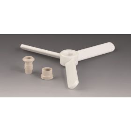 Roerelement PTFE propeller maxi 3-vleugels 200-20-6 mm voor asdiameter 10 mm; met klemelement