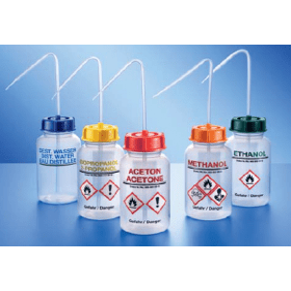 KAUTEX spuitfles kunststof (ZPE) wijdmonds 250 ml oranje dop opdruk Methanol