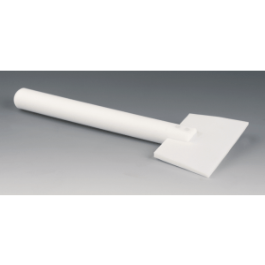Wisser / schraper PTFE lengte 200 mm breedte 120 mm diameter handgreep 20 mm
