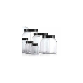 Wijdhalspot kunststof (PVC helder) 1 liter zonder dop