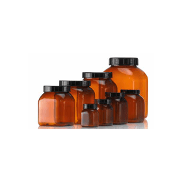 Wijdhalspot kunststof (PVC bruin) 500 ml zonder dop