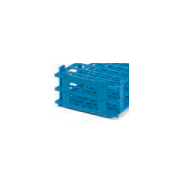 BRAND reageerbuisrek kunststof (PP) 5 x 11 posities voor buis tot 18 mm, blauw