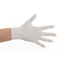 Handschoen latex poedervrij M (100 stuks)