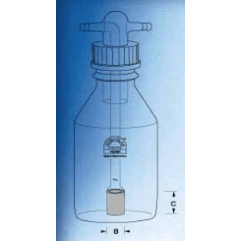 Gaswasfles 500 ml GL 45 kaars P4
