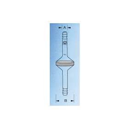 Inbouwfilter d 90 mm P0 slangolijf 18 mm