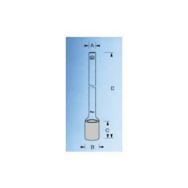 Microfilterkaars cilindrisch dxl 20x30 mm met steel P0