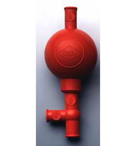 Pipetteerballon rubber Peleaus (rood)