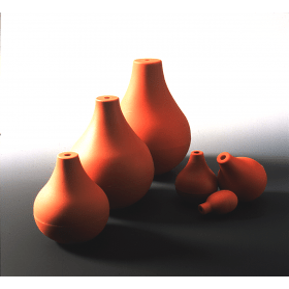 Pipetteerballon peervorm ca 143-145 ml diameter 72 mm