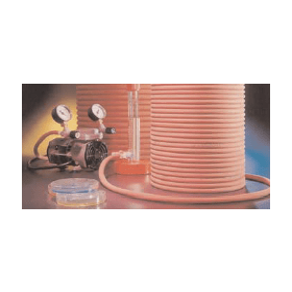 Slang rood rubber 2x4 mm (25 meter)