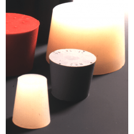 Rubberstop siliconen massief 12.5x16.5x20 mm