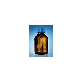BRAND fles 100 ml bruin + coating met GL draad en dop