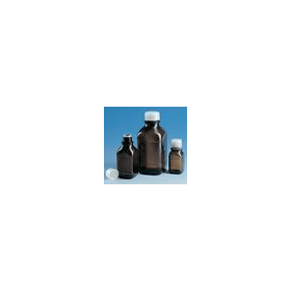BRAND fles 1000 ml bruin + coating met GL draad en dop