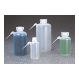 NALGENE spuitfles kunststof (ZPE) wijdmonds; fles en spuitbuis uit één stuk; 125 ml (verpakking 6 stuks)